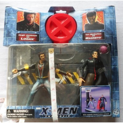 X-MEN THE MOVIE WOLVERINE LOGAN VS. MAGNETO ACTION FIGURE 2 PACK